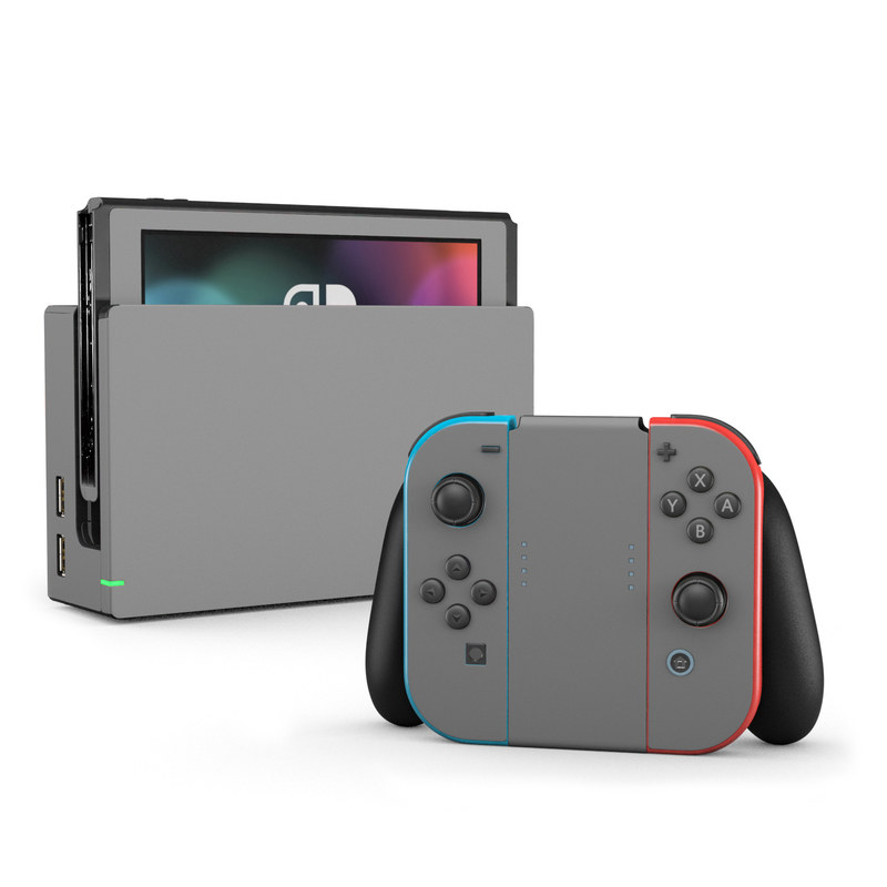 Nintendo Switch Skin Solid State Grey By Solid Colors