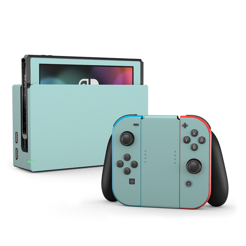 Nintendo Switch Skin Solid State Mint By Solid Colors