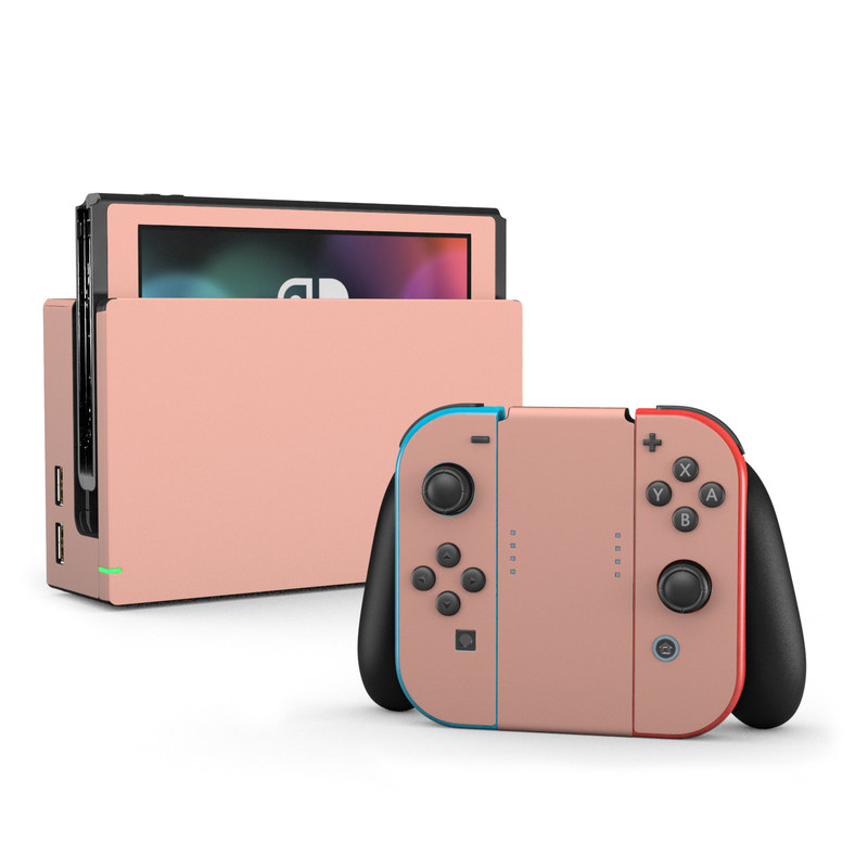 Nintendo Switch Skin Solid State Peach By Solid Colors