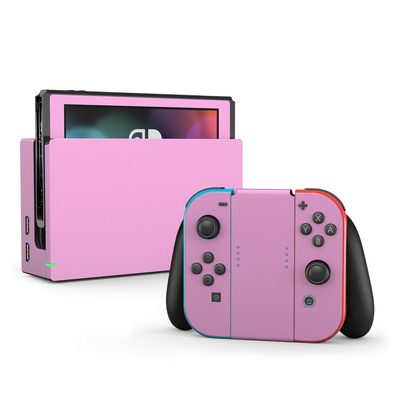 Nintendo Switch Skin Solid State Pink By Solid Colors