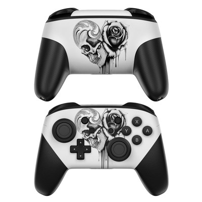 Nintendo Switch Pro Controller Skin - Amour Noir