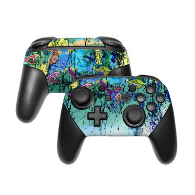 Nintendo Switch Pro Controller Skin - Blue Evening