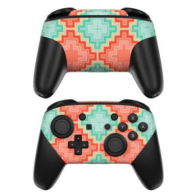 Nintendo Switch Pro Controller Skin - Coral Diamond