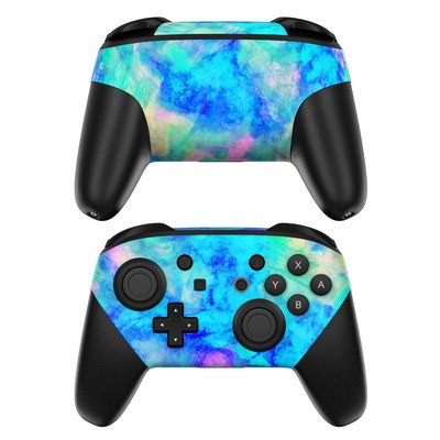 Nintendo Switch Pro Controller Skin - Electrify Ice Blue