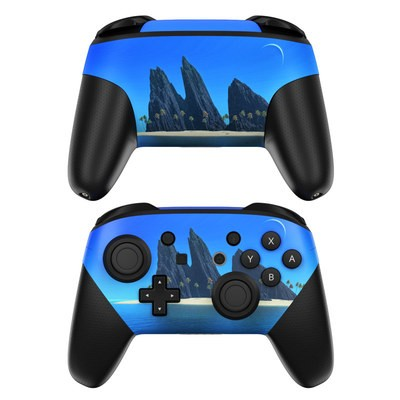 Nintendo Switch Pro Controller Skin - Endless Blue