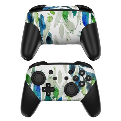 Nintendo Switch Pro Controller Skin - Floating Leaves