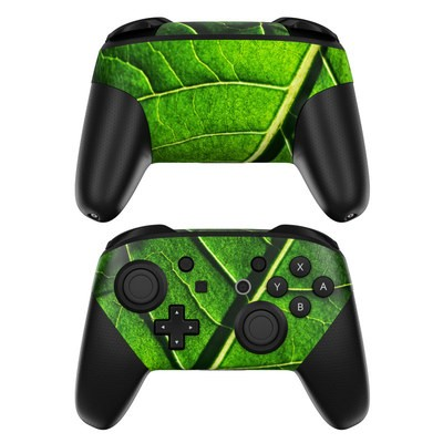 Nintendo Switch Pro Controller Skin - Green Leaf