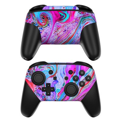 Nintendo Switch Pro Controller Skin - Marbled Lustre