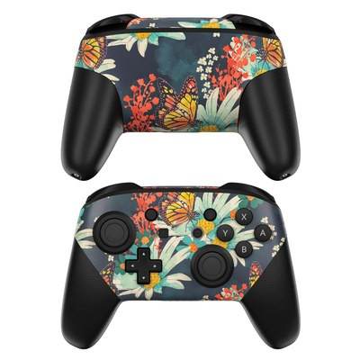 Nintendo Switch Pro Controller Skin - Monarch Grove