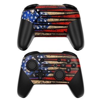 Nintendo Switch Pro Controller Skin - Old Glory