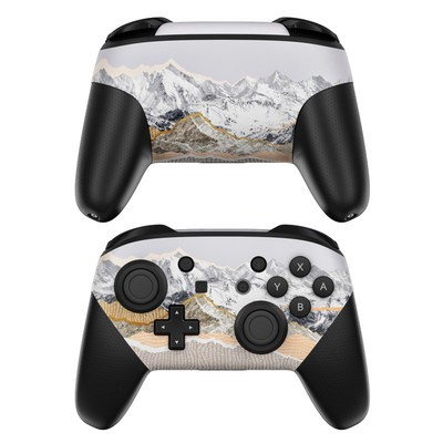 Nintendo Switch Pro Controller Skin - Pastel Mountains