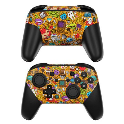 Nintendo Switch Pro Controller Skin - Psychedelic