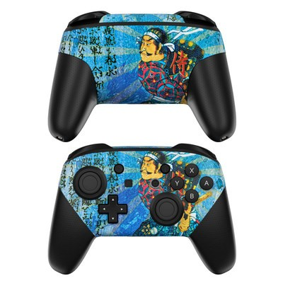 Nintendo Switch Pro Controller Skin - Samurai Honor