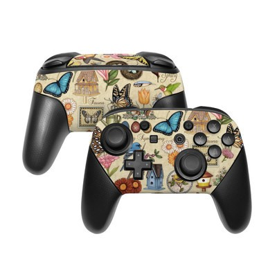 Nintendo Switch Pro Controller Skin - Spring All