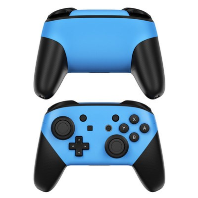 Nintendo Switch Pro Controller Skin - Solid State Blue