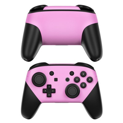 Nintendo Switch Pro Controller Skin - Solid State Pink