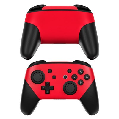Nintendo Switch Pro Controller Skin - Solid State Red
