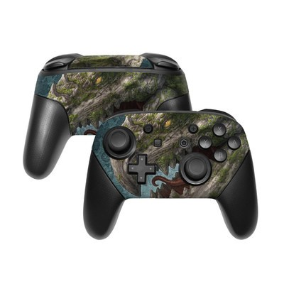 Nintendo Switch Pro Controller Skin - Stone Dragon