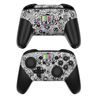 Nintendo Switch Pro Controller Skin - TV Kills Everything