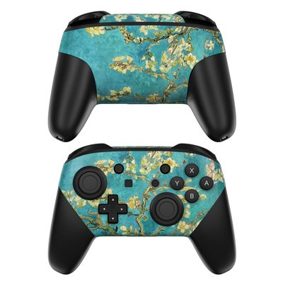 Nintendo Switch Pro Controller Skin - Blossoming Almond Tree