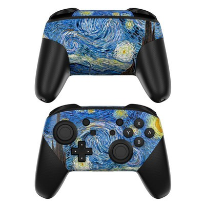 Nintendo Switch Pro Controller Skin - Starry Night