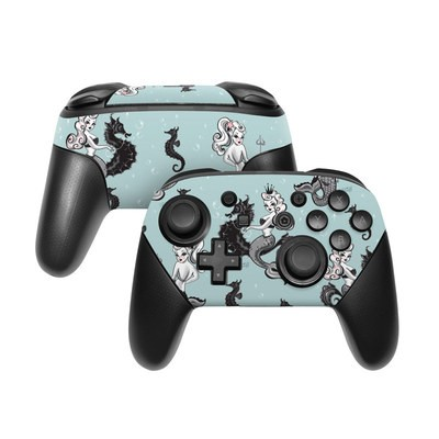 Nintendo Switch Pro Controller Skin - Vintage Mermaid