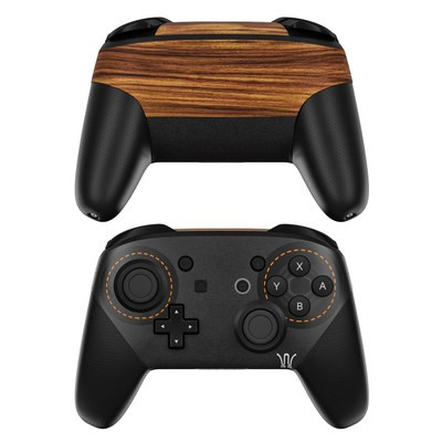 Nintendo Switch Pro Controller Skin - Wooden Gaming System