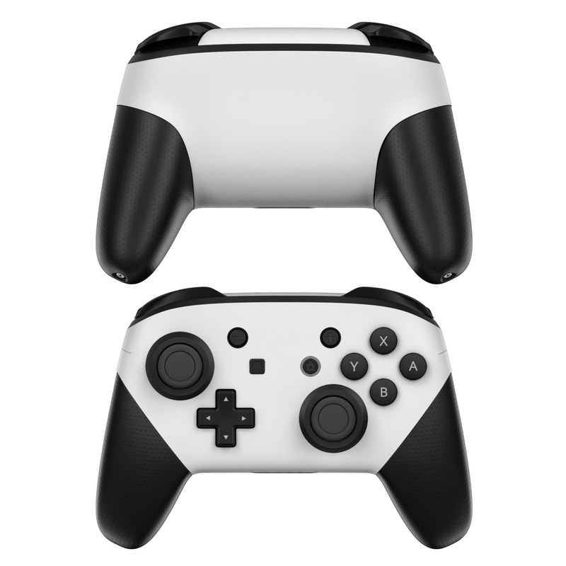 Nintendo Switch Pro Controller Skin Solid State White By Solid Colors Decalgirl