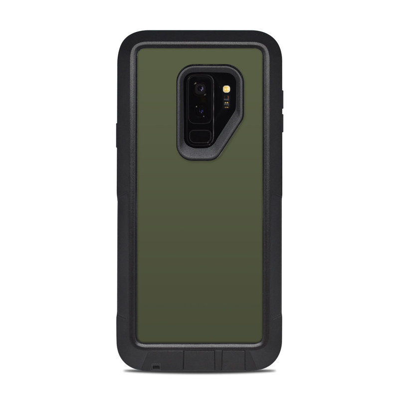 brand new a1756 cb3b2 OtterBox Pursuit Galaxy S9 Plus Case Skin - Solid State Olive Drab