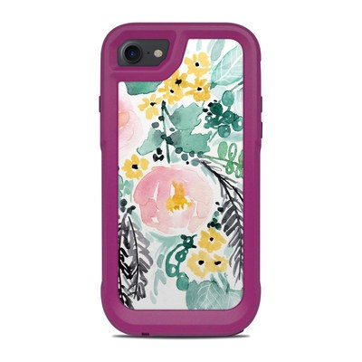 OtterBox Pursuit iPhone 7-8 Case Skin - Blushed Flowers