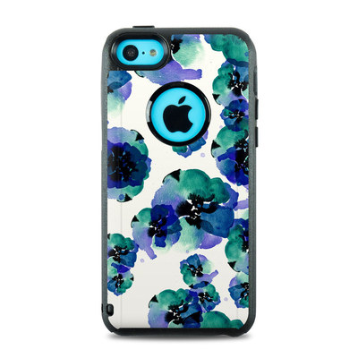 OtterBox Commuter iPhone 5c Case Skin - Blue Eye Flowers