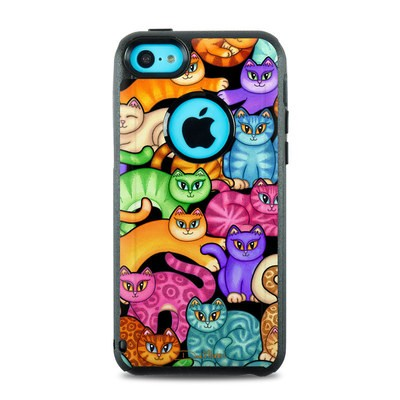 OtterBox Commuter iPhone 5c Case Skin - Colorful Kittens