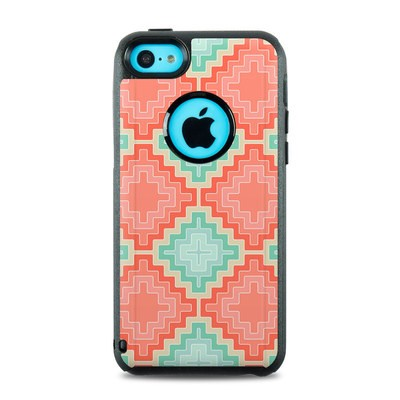 OtterBox Commuter iPhone 5c Case Skin - Coral Diamond