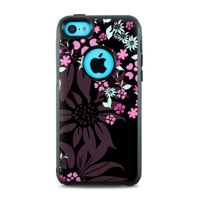 OtterBox Commuter iPhone 5c Case Skin - Dark Flowers