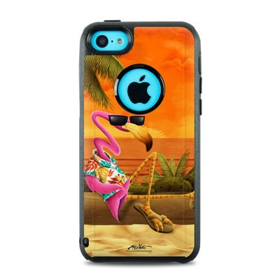 OtterBox Commuter iPhone 5c Case Skin - Sunset Flamingo