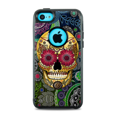 OtterBox Commuter iPhone 5c Case Skin - Sugar Skull Paisley