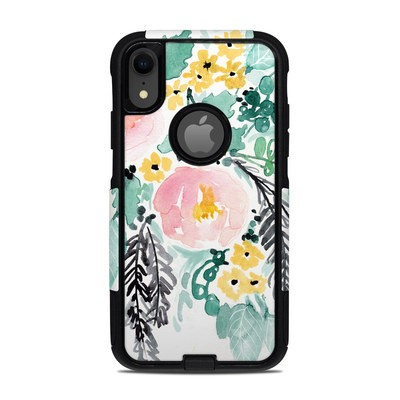 OtterBox Commuter iPhone XR Case Skin - Blushed Flowers