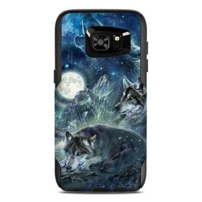OtterBox Commuter Galaxy S7 Edge Case Skin - Bark At The Moon