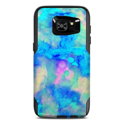 OtterBox Commuter Galaxy S7 Edge Case Skin - Electrify Ice Blue