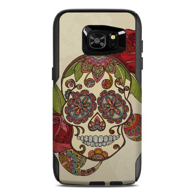 OtterBox Commuter Galaxy S7 Edge Case Skin - Sugar Skull