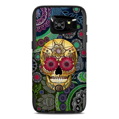 OtterBox Commuter Galaxy S7 Edge Case Skin - Sugar Skull Paisley