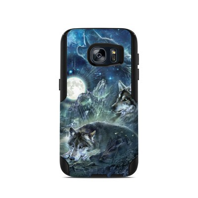 OtterBox Commuter Galaxy S7 Case Skin - Bark At The Moon