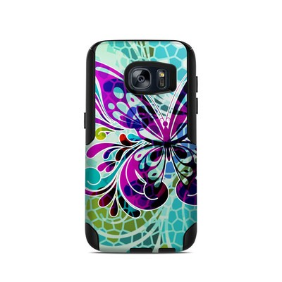 OtterBox Commuter Galaxy S7 Case Skin - Butterfly Glass