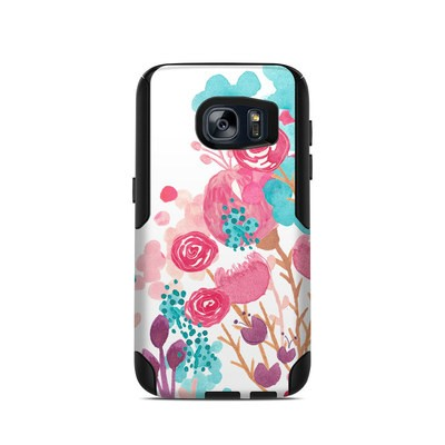 OtterBox Commuter Galaxy S7 Case Skin - Blush Blossoms
