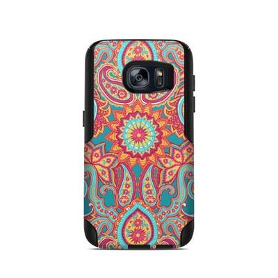 OtterBox Commuter Galaxy S7 Case Skin - Carnival Paisley
