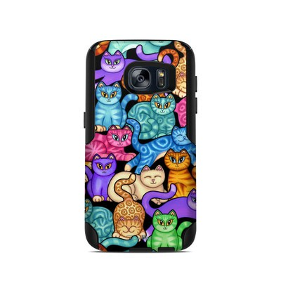 OtterBox Commuter Galaxy S7 Case Skin - Colorful Kittens