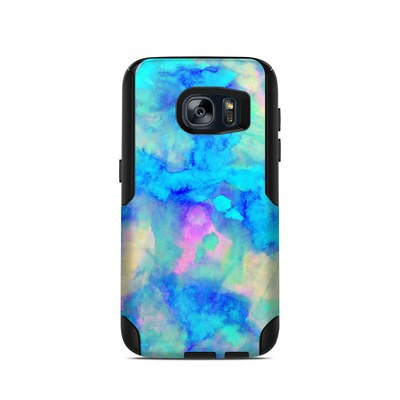 OtterBox Commuter Galaxy S7 Case Skin - Electrify Ice Blue