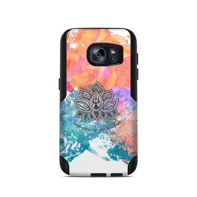 OtterBox Commuter Galaxy S7 Case Skin - Happy Lotus