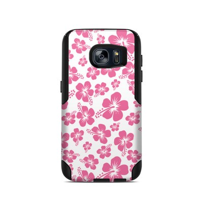 OtterBox Commuter Galaxy S7 Case Skin - Pink Hibiscus