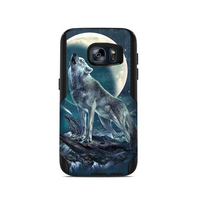 OtterBox Commuter Galaxy S7 Case Skin - Howling Moon Soloist